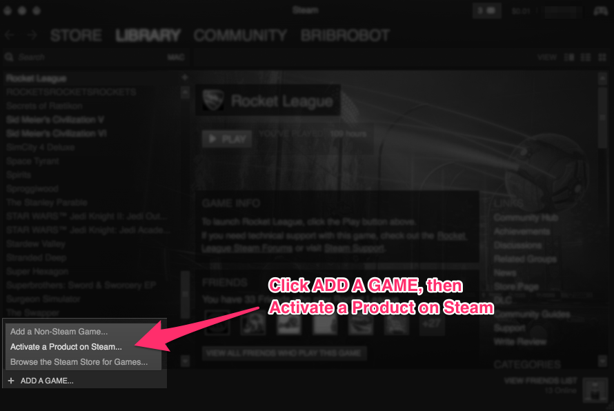 steam cd key already activated